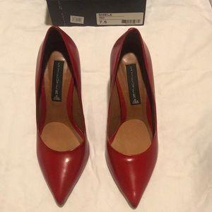 Steve Madden RED Sheila Pump 3.5 inch heel
